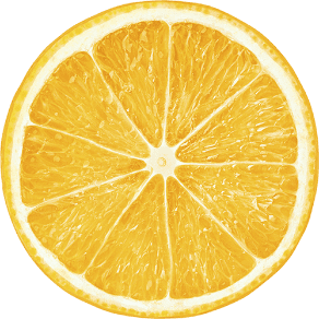 Picture of a sliced orange