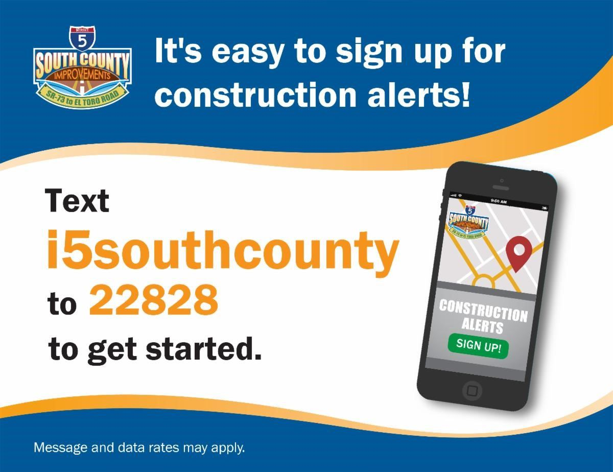 Construction Alerts via text