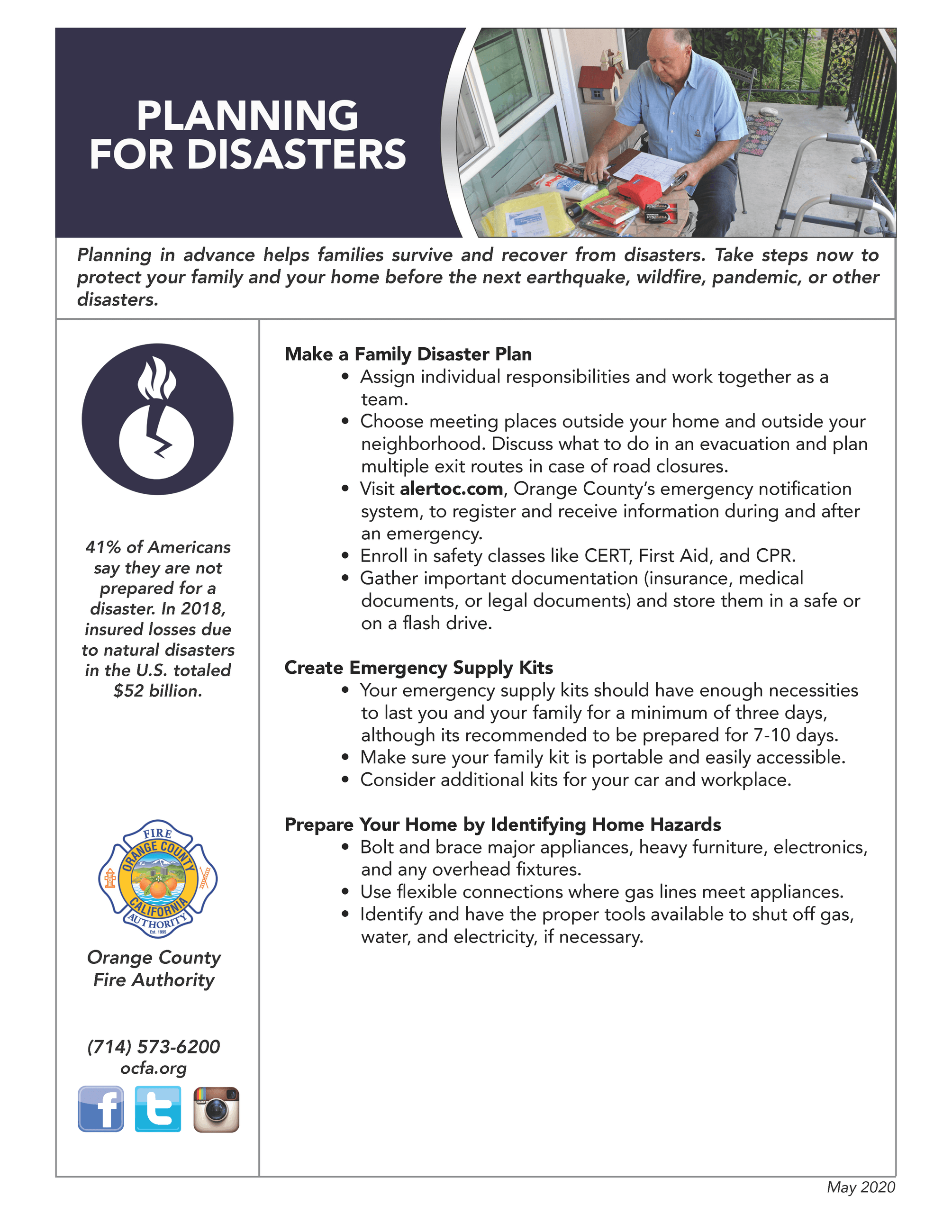 Planning for Disasters Flyer