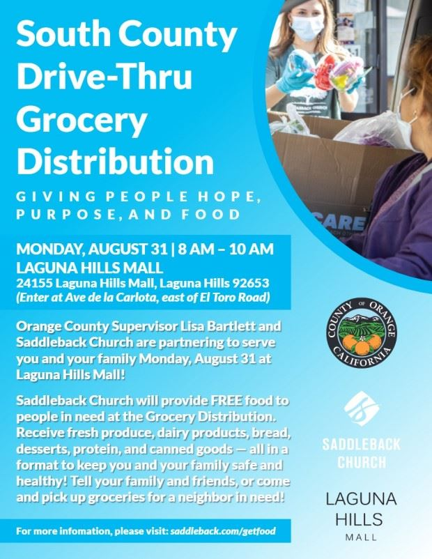 South County Drive Thru Food Drive Flyer