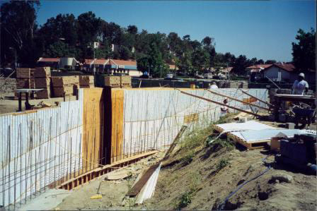 Construction of Water Wall 6